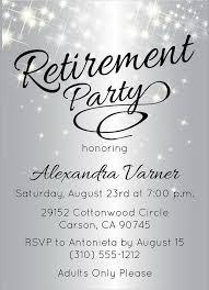 Party Invitation Wording Retirement Party Invitations Wording Oxsvitation Com