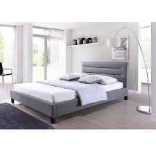 hillary grey fabric upholstered platform bed free shipping today