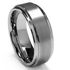 s tungsten wedding rings king will basic 8mm white tungsten ring wedding band step edge