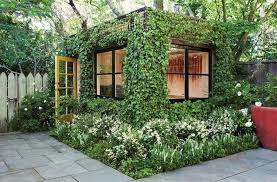 charming garden house design and beautiful backyard landscaping ideas