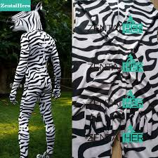 free shipping dhl zebra headless suit with head horse mask zentai