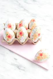 paper easter eggs diy tissue paper eggs say yessay yes