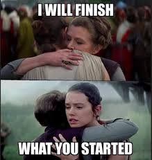 Finish It Meme - thoughts on losing carrie and the i will finish what you started