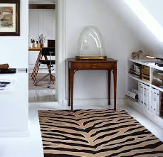 decoration awesome zebra patterned handmade wool rug suitable for
