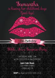 18th birthday party invitations badbrya com