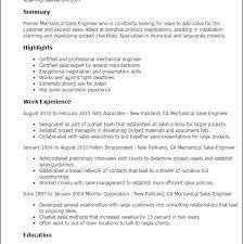 Mechanical Sales Engineer Resume Download Lead Mechanical Engineer Sample Resume