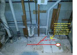 Basement Bathroom Vent Pipe Adding A Shower To An Ejector Pump In Basement Doityourself Com