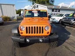 orange jeep wrangler unlimited for sale 2013 jeep wrangler unlimited 4x4 sport 4dr suv in onsted mi d d