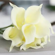 latex real touch calla lily flower bouquets bridal wedding