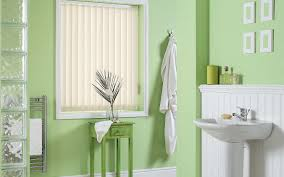 Curtains For Bathroom Windows by Decorating Brown Levolor Vertical Blinds Matched With Curtains