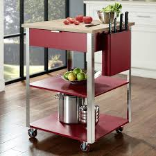 Crosley Kitchen Cart With Butcher Block Top  Reviews Wayfair - Kitchen cart table