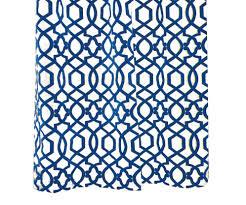 iman sultana lunar velvet blue trellis curtain geometric ivory