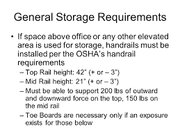 Handrail Requirements Osha Cabinet Shop Safety These Handouts And Documents With Attachments