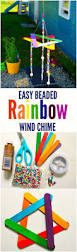 easy beaded rainbow wind chime kids craft kids activities and
