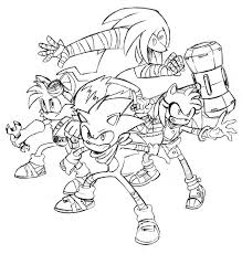 sonic coloring pages coloring home