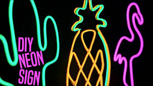 sign decor diy neon sign decor pineapple cactus flamingo