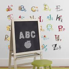 Nursery Stickers Big Graphic Alphabet Letters Kids Room Nursery Wall Decal Stickers