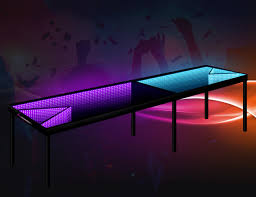 infinity glow l e d beer pong table gadget flow