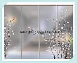 acid etched glass figured glass ornamental glass morden glass wall
