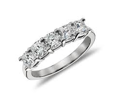 cushion diamond ring classic cushion cut five diamond ring in platinum 1 50 ct