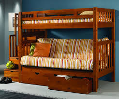 Solid Oak Bunk Bed Wood Bunk Bed Into The Glass Solid Wood Bunk