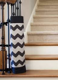Best Baby Gate For Banisters Chevron Fabric Safety Gate Baby Gates Banisters And Safety