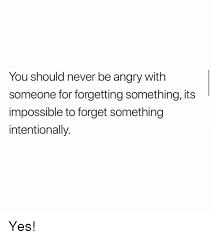 Its Something Meme - you should never be angry with someone for forgetting something