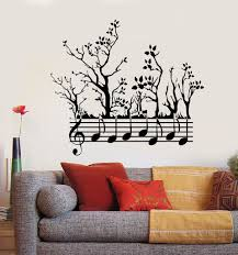 vinyl wall decal forest tree nature notes music musician branches