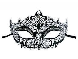 black venetian mask mask black lace metal nelya