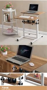 Adjustable Rolling Laptop Desk by Tla007 Adjustable Computer Desk Rolling Laptop Table Standing