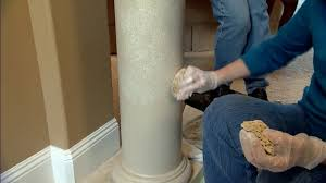 Concrete Faux Paint - faux marbleizing finishing technique for columns today u0027s homeowner