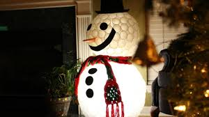 diy plastic cup snowman fun christmas projects youtube