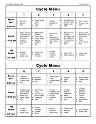 cacfp menu template cycle menu template st elizabeth hospital cafeteria and cafe