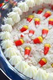 halloween candy cake 5 ingredient candy corn cookie cake baker by nature
