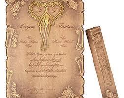 scroll wedding invitations scroll invitations etsy