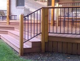 replace metal porch railings in concrete u2014 bistrodre porch and