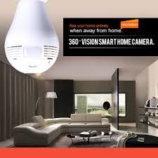 wifi ip camera bulb light home wireless security 1 3mp 960p