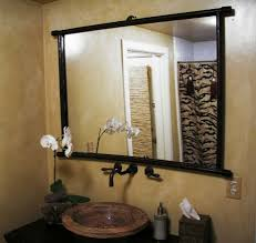 stick on frames for bathroom mirrors metal framed bathroom mirrors visionexchange co