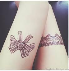49 wonderful bow tattoos on thigh