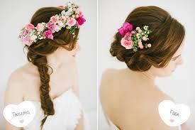 Hochsteckfrisurenen Hochzeit Mit Blumen by Geflochtene Brautfrisuren Mit Echten Blumen Hochzeitsblog