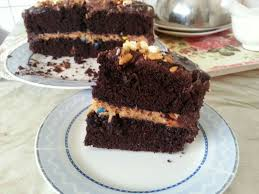 double drip chocolate fudge cake peanut butter u0026m filling