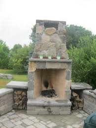 diy brick outdoor fireplace with rustic outdoor brick fireplace
