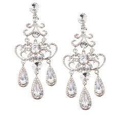 Sparkly Chandelier Earrings Crystal Earrings Swarovski Chandelier Wedding Earrings Crystal