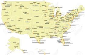 map usa alabama map usa airports major tourist attractions maps