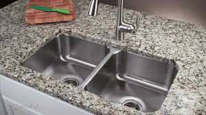 Countertop Kitchen Sink How To Install A Stainless Steel Undermount Kitchen Sink Moen