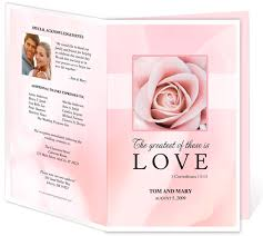 printable funeral programs free funeral program templates selection of wedding program