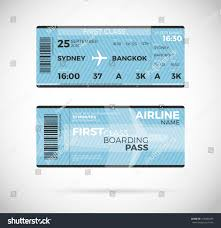 airline boarding pass ticket first class stock vector 418824283