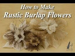 burlap flowers how to make rustic burlap flowers