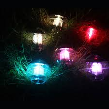 floating led pool lights floating led pool light pond landscape rgb blinking flashing night