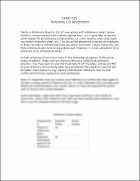 resume references sample reference list template 415 wk 4 reference list assignment template card 415 reference list